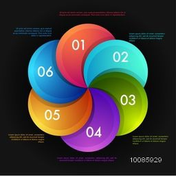 Colorful infographic elements with number option, Creative abstract background, Vector illustration for Business concept.