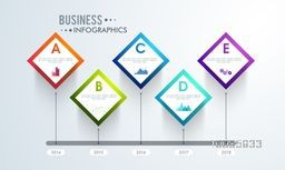 Business infographic template layout, Can be used for workflow layout, diagram, chart, reports and financial data presentation.
