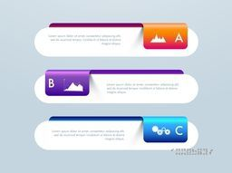 Glossy paper infographic elements, banners for your Business data presentation.