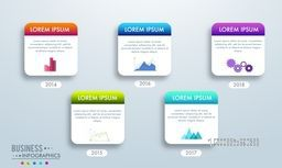 Business infographic elements set, Can be used for workflow layout, annual reports, diagram and presentation.