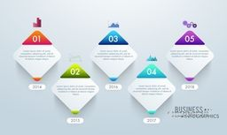 Abstract glossy infographic elements with numbers for Business concept.