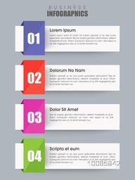 Infographic design template with number option for Business reports and data presentation.