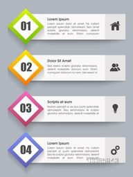Infographic design template with number option and web symbols for Business reports and data presentation.