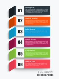 Colorful paper infographic elements with numbers for Business concept.
