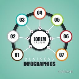 Business infographic template layout with numbers, Can be used for workflow layout, diagram, reports and presentation.