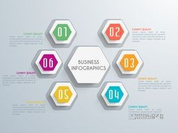 Infographic elements with numbers for Business presentation.
