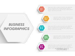 Business infographic template layout with arrows, Can be used for workflow layout, diagram and presentation.