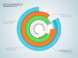 Colorful 3D infographic circle chart for your Business reports and financial data presentation.