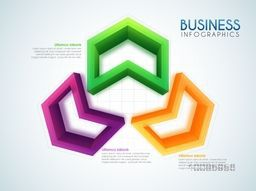 3D colorful infographic elements for Business concept.