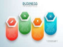 Colorful infographic elements with web symbols for Business concept.