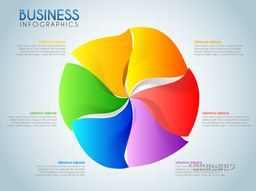 Creative colorful infographics element for workflow layout, business reports and presentation.