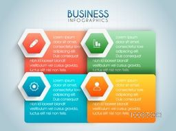 Colorful infographic elements with web symbols for Business reports and presentation.