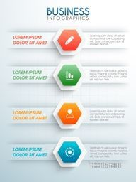 Infographic template layout with colorful web symbols for your Business reports and presentation.
