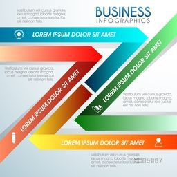 Shiny colorful paper infographics for Business concept.