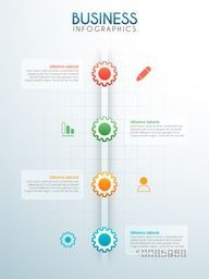 Creative infographic template layout with gear and web symbols for Business reports and presentation.