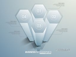 Creative 3D infographic elements with number options for your Business presentation.