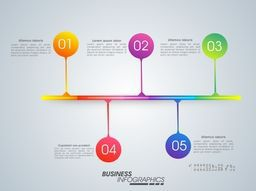 Colorful infographic template layout with number pointers for Business reports and presentation.
