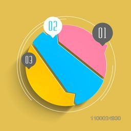 Colorful infographic element for your business reports and presentation.