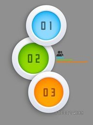 Colorful infographic circles element for Business reports and presentation.