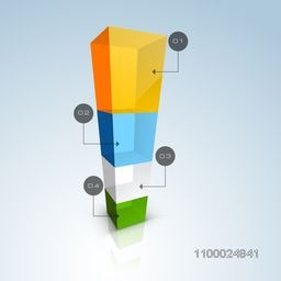Glossy colorful infographic element for Business concept.