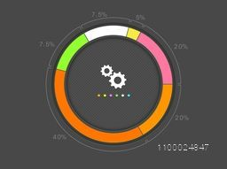 Colorful statistical circle infographic element for business presentation.