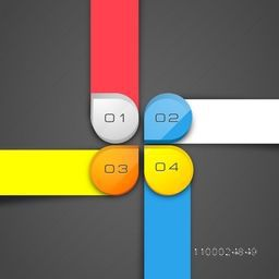 Colorful infographic element for workflow layout, diagram, chart and business presentation.