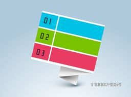 Colorful paper infographic element or tag design for Business.