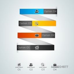 Colorful infographic element with web symbols for Business.
