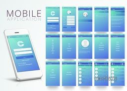 Creative Chat Mobile Application Screens with Smartphone presentation.