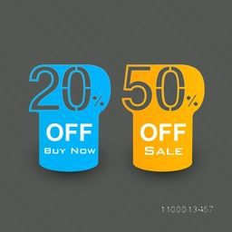 Business promotional badges, stickers, labels or tags with 20% off offer. EPS 10.