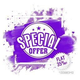 Special Offer Sale, Flyer, Banner, Poster, Pamphlet, Flat Discount Upto 35% Off, Vector illustration with abstract design.