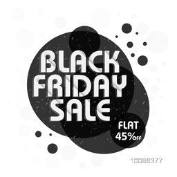 Black Friday Sale Poster, Banner, Flyer or Pamphlet with Flat 45% Off, Vector illustration.