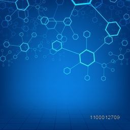 Abstract Molecules background for Health and Medical concept.