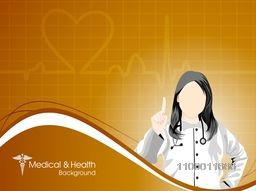 Health and medical background with Doctor (Female).