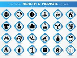 Big set of various creative icons for Health and Medical concept.