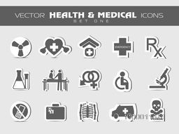 Creative various Medical icons set.