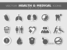 Creative Medical icons set.
