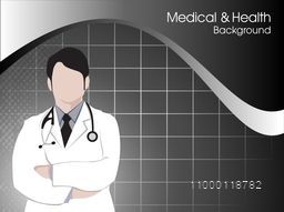 Health and medical background with Doctor (Male).