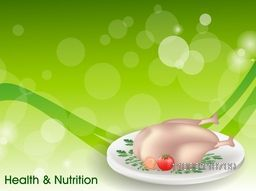 Health and Nutrition concept with healthy chicken on abstract background.