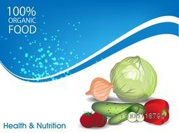 Health and Nutrition concept with fresh vegetables.