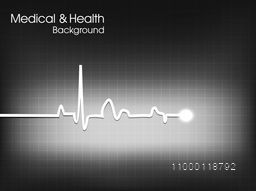 Cardiogram background for Medical and Health concept.