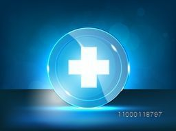 Abstract Medical Background with plus symbol.