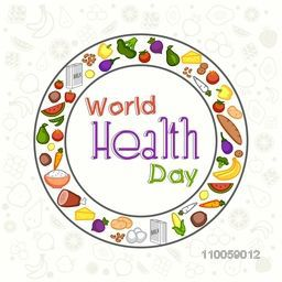 World Health Day concept with nutritious food for healthy lifestyle.