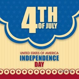 Stylish vintage Poster, Banner or Flyer design for 4th of July, American Independence Day celebration.