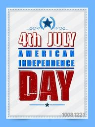 Vintage Pamphlet, Banner or Flyer design for 4th of July, American Independence Day celebration.