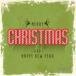 Creative typographic vintage background for Merry Christmas and Happy New Year celebration, Can be used as Poster, Banner or Flyer design.