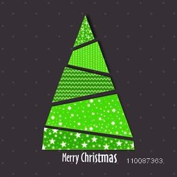 Creative Xmas Tree design for Merry Christmas celebration concept.