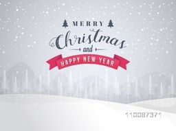 Winter background with snow, Creative vector illustration for Merry Christmas and Happy New Year celebration.