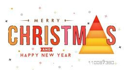 Creative Poster, Banner or Flyer design for Merry Christmas and Happy New Year celebration.