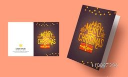 Elegant Greeting Card design for Merry Christmas celebration.